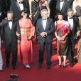 Nicole Kidman, Ang Lee, Naomi Kawase, Steven Spielberg, Lynne Ramsay, Daniel Auteuil et Vidya Balan lors de la montée des marches pour la clôture du Festival de Cannes le 26 mai 2013