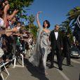 Asia Argento arrive au Palais des Festivals - Clôture du 66e Festival du film de Cannes, le 26 mai 2013.