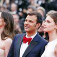 Géraldine Pailhas, François Ozon et Marine Vacth présentent Jeune et Jolie au Festival de Cannes le 16 mai 2013.