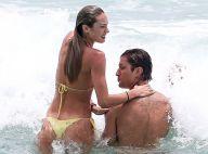 Candice Swanepoel : Plage et tendres baisers pour le top model et son chéri