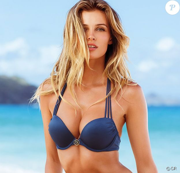 Edita Vilkeviciute, mannequin de 24 ans, pose en bikini pour Victoria's Secret.