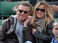 Denis Brogniart et sa femme, supporters amoureux à Roland-Garros
