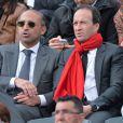 Thomas Fabius assiste au match de Gaël Monfils au 2e Tour des Internationaux de France de tennis de Roland Garros le 29 mai 2013