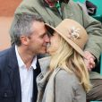 Yann Delaigue et Astrid Bard lors du quatrième jour des Internationaux de France à Roland-Garros le 29 mai 2013