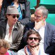 Cendrine et Patrice Dominguez lors du quatrième jour des Internationaux de France à Roland-Garros le 29 mai 2013