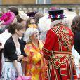 Ann Widdecombe lors de la deuxième garden party de l'année offerte par Elizabeth II à Buckingham Palace le 30 mai 2013.