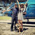Lewis Hamilton, sa chérie Nicole Scherzinger et son chien Roscoe en mini-vacances à Capri.