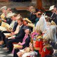 La famille royale lors de la cérémonie pour les 60 ans du couronnement de la reine Elizabeth II, le 4 juin 2013 en l'abbaye de Westminster.
