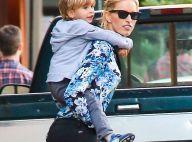 Karolina Kurkova : Pause tendresse avec son fils entre deux shootings