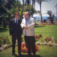 Gérard Depardieu à Nice, avec le maire Christian Estrosi, pour annoncer le Festival du cinéma russe du 14 au 17 juin - 6 juin 2013