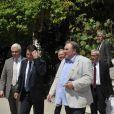L'acteur francais Gérard Depardieu participe à la conférence de presse au Musée Massena à Nice, le 6 juin 2013, présentant la programmation du 1er Festival du cinéma russe à Nice organisé par le Gosfilmofond, la Maison de la Russie, avec le soutien de la Ville de Nice, qui aura lieu du 14 au 17 juin 2013