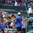Yannick Noah a joué les arbitres lors d'un match très particulier du Trophée des Légendes qui opposait Mansour Bahrami et Pat Cash à Guy Forget et Henri Leconte, le 5 juin 2013, à l'occasion du 30e anniversaire de sa victoire à Roland-Garros