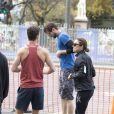 En Australie pour participer au musical culte Jesus-Christ Superstar, Mel C peaufine sa condition, ici en plein jogging dans Adelaide le 5 juin 2013.