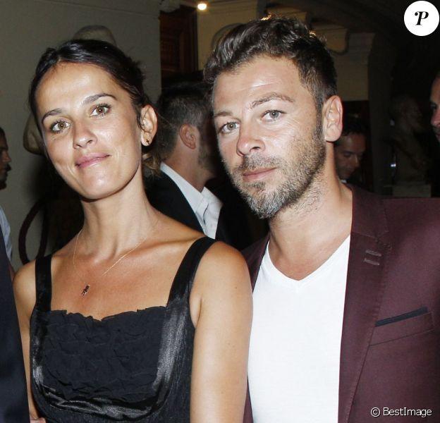 Christophe Maé et sa femme Nadège, au concert Symphonica de George Michael à l'Opéra Garnier, le 9 septembre 2012.