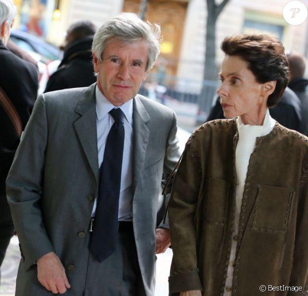 Alain Minc et sa femme à Paris le 3 juin 2013.