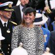 Kate Middleton à Southampton le 13 juin 2013 pour sa dernière mission officielle avant de débuter son congé maternité : la duchesse de Cambridge procédait au baptême de The Royal Princess, palace flottant de la compagnie de croisières Princess Cruises, dont le vaisseau originellement nommé ainsi avait été baptisé en 1984 par Lady Di.