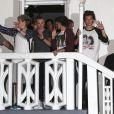 Harry Styles, Liam Payne, Niall Horan, Zayn Malik et Louis Tomlinson, les garçons du groupe One Direction quittent un studio après une journée d'enregistrement à Miami, le 12 juin 2013.