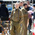 Bill Murray sur le tournage de The Monuments Men sur les côtes anglaises, le 5 juin 2013.