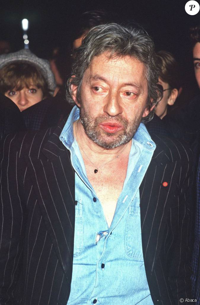 le chanteur serge gainsbourg en septembre 1987 paris. Black Bedroom Furniture Sets. Home Design Ideas