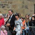 Pippa Middleton lors du mariage de Lady Melissa, fille du duc de Northumberland, et deThomas van Straubenzee à Alnwick en Angleterre le 22 juin 2013