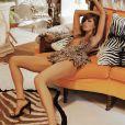 Petra Nemcova, devenue brune, pose pour la marque australienne de lingerie Wild Orchid, le 23 Juin 2013.