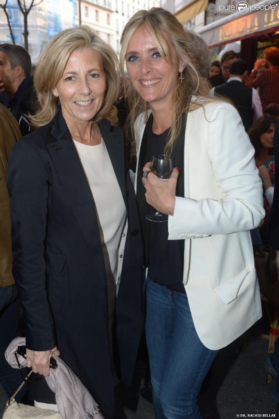 Claire Chazal et Marie Poniatowski à la soirée d'inauguration de la boutique Stone, 60 rue des Saint Pères, à Paris, le 25 juin 2013
