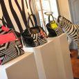 La présentation du sac de Laury Thilleman pour la marque La Halle à Paris, le 27 juin 2013