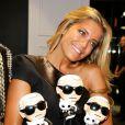Sylvie van der Vaart assiste à l'inauguration du concept store Karl Lagerfeld à Berlin. Le 2 juin 2013.