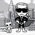 Karl Lagerfeld et sa chatte Choupette, immortalisés en poupées par la marque japonaise Tokidoki, partent à l'aventure dans ce dessin animé.