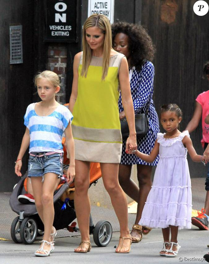 heidi klum and her son henry enjoy the day at coldwater