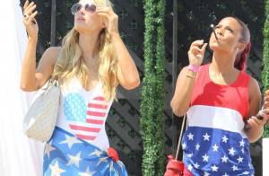 Paris Hilton, Amber Rose et Christina Milian : Charmant trio patriote à Malibu