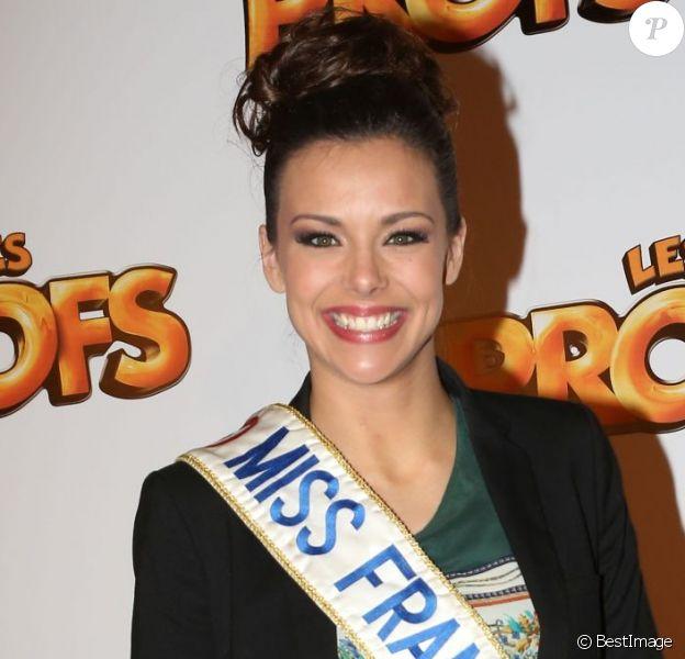 Miss France Marine Lorphelin lors de la première du film Les Profs au Grand Rex, Paris, le 9 avril 2013.