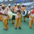 Ambiance lors du 12e Carnaval Tropical qui s'est, entre autre, déroulé au Stade Charlety à Paris, le 7 juillet 2013.