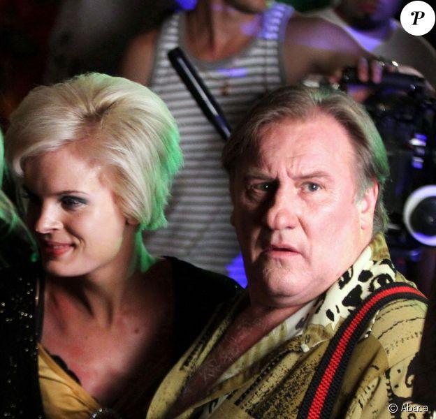Gérard Depardieu sur le tournage de Rabbit + 1 au VIP Club de Moscou, le 8 juillet 20103.