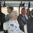 La reine Elizabeth II au premier jour, le 11 juillet 2013, du Coronation Festival organisé à Buckingham Palace à l'occasion des 60 ans de son couronnement par la Royal Warrants Holders Association.