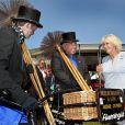 Camilla Parker Bowles le 11 juillet 2013 au premier jour du Coronation Festival organisé à Buckingham Palace, à l'occasion des 60 ans du couronnement d'Elizabeth II, par la Royal Warrants Holders Association.