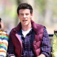 Cory Monteith sur le tournage de Glee à New York, le 26 avril 2011.