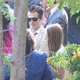 Mariage de Jimmy Kimmel et Molly McNearney à Ojai, le 13 juillet 2013. Ici on peut voir Johnny Knoxville.