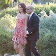 Mariage de Jimmy Kimmel et Molly McNearney à Ojai, le 13 juillet 2013. Ici on peut voir Stanley Tucci et son épouse Felicity Blunt (soeur de Emily Blunt).