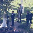 Mariage de Jimmy Kimmel et Molly McNearney à Ojai, le 13 juillet 2013.