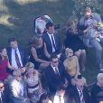 Mariage de Jimmy Kimmel et Molly McNearney à Ojai, le 13 juillet 2013. Ici on peut voir Jennifer Garner, Ben Affleck, Jennifer Aniston, Justin Theroux, Kristen Bell et Dax Shepard s'occuper de leur bébé.