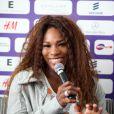 Serena Williams lors de sa conférence de presse avant le tournoi de Bastad, le 14 juillet 2013 en Suède