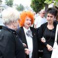 Yvette Horner aux obsèques d'André Verchuren à Chantilly le 17 juillet 2013.