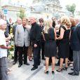 La famille d'André Verchuren assiste à ses obsèques à Chantilly le 17 juillet 2013.