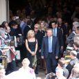 Harry Williams, fils aîné d'André Verchuren et sa famille aux obsèques d'André Verchuren à Chantilly le 17 juillet 2013.