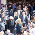Harry Williams, fils aine du defunt - La famille a la sortie de l'eglise ou ont eu lieu les obseques de Andre Verchuren a Chantilly. Le 17 juillet 2013 17/07/2013 - Chantilly