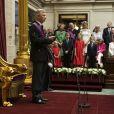 Le nouveau roi Philippe de Belgique prête serment devant les députés et les sénateurs à Bruxelles, le 21 juillet 2013.