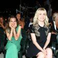 Emmanuelle Seigner et sa fille Morgane Polanski au festival d'Ischia en Italie, le 14 juillet 2013.