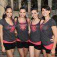 Hinarani de Longeaux, Marine Lorphelin, Sophie Garénaux et Laetitia Bléger dans l'épisode de Fort Boyard spécial Miss France le samedi 3 août 2013 sur France 2