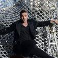 Robbie Williams en concert à Hanovre en Allemagne, le 27 juillet 2013.